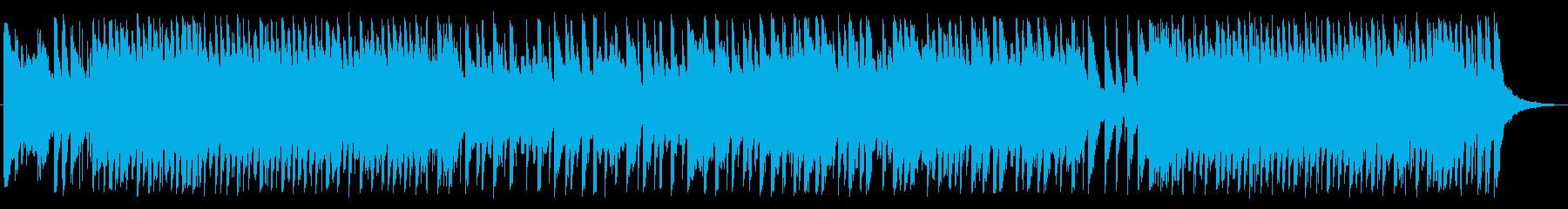 明るい音色のディスコビートの再生済みの波形