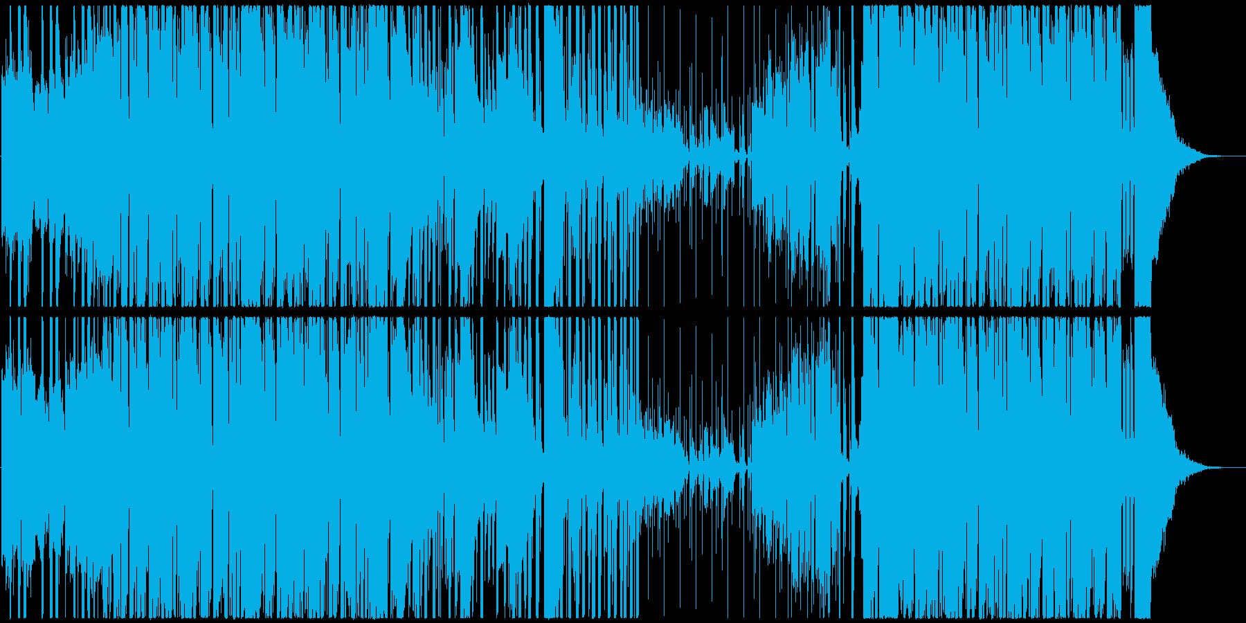 アジアン音階のHipHop調BGMの再生済みの波形