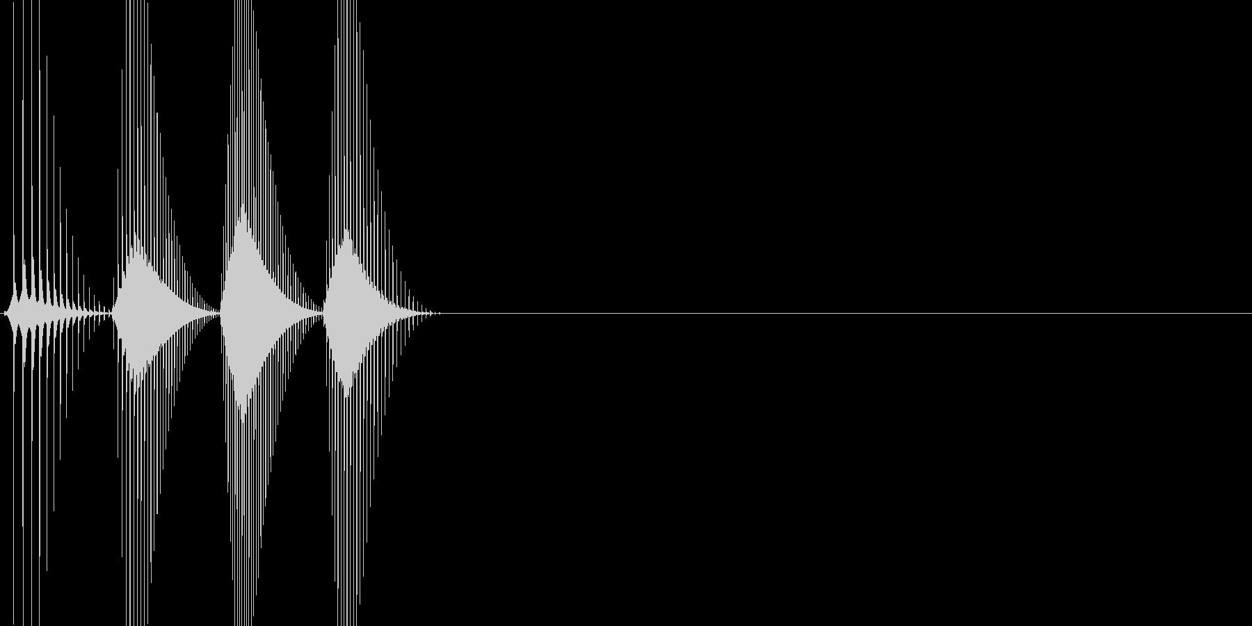 ボタン・キャンセル・操作音・決定音の未再生の波形