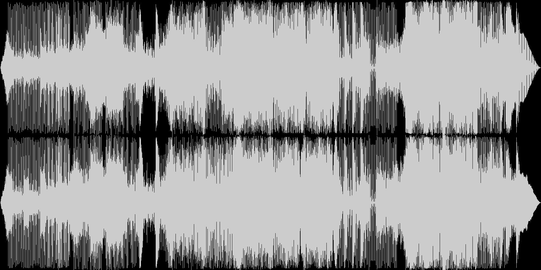 グルーヴィでコミカルなアクションBGMの未再生の波形