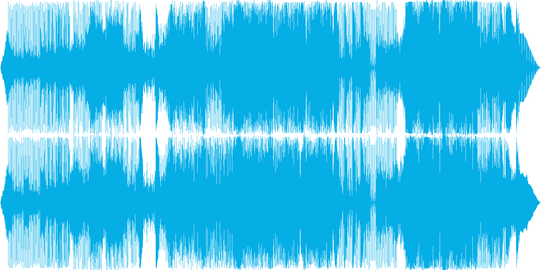 グルーヴィでコミカルなアクションBGMの再生済みの波形