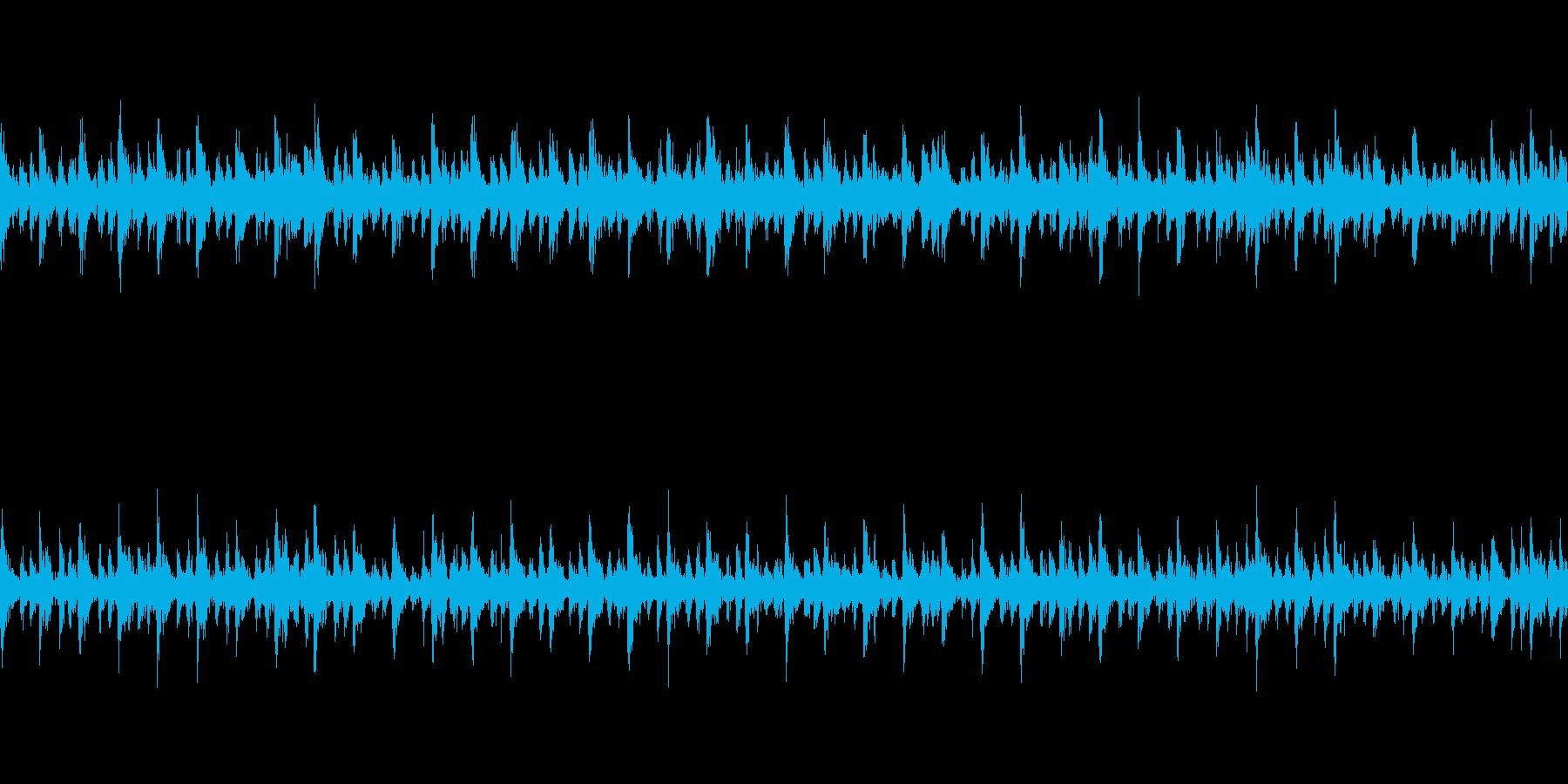 【和風】疾走感の和太鼓BGM(ループ)の再生済みの波形