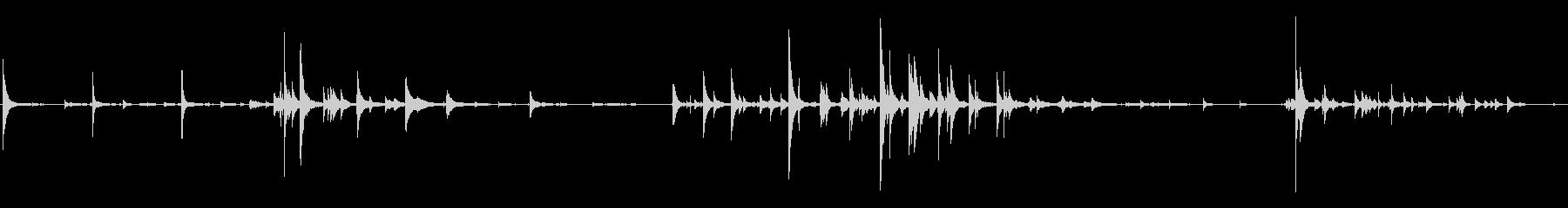 ベル管状x3の未再生の波形