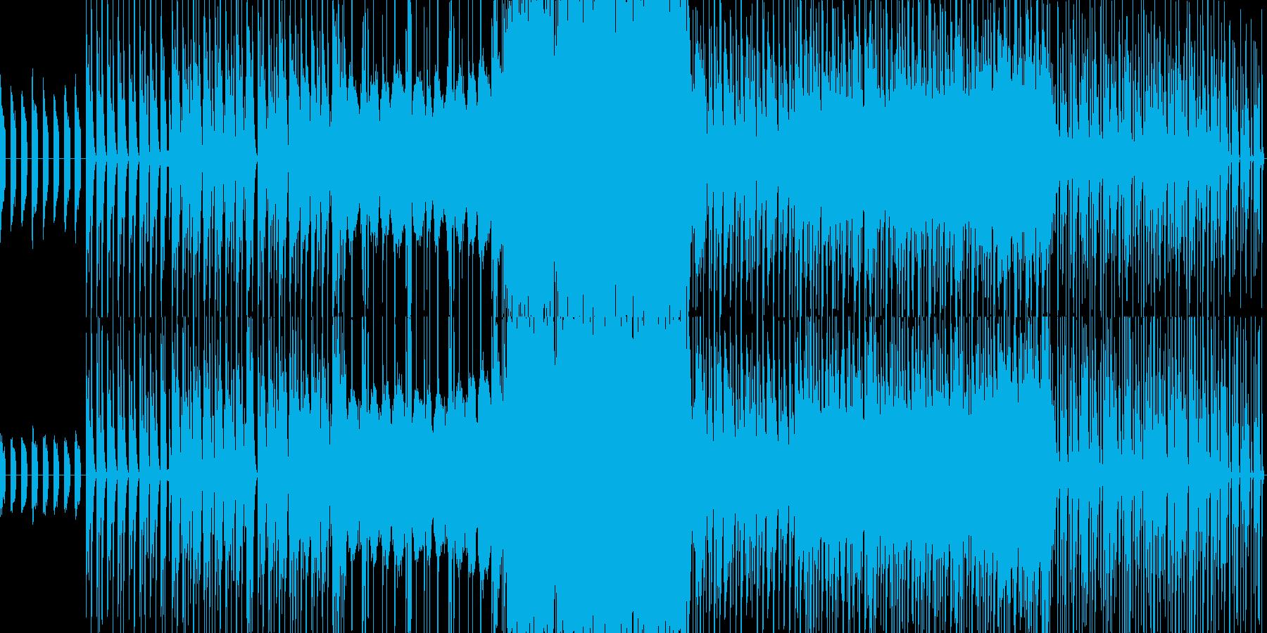 ピアノとストリングスの劇伴風テーマ曲の再生済みの波形