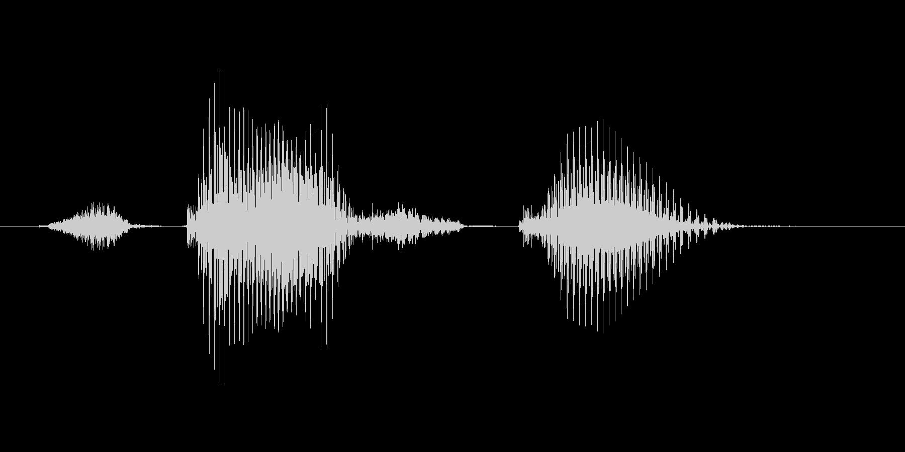 ステージ2(つー)の未再生の波形