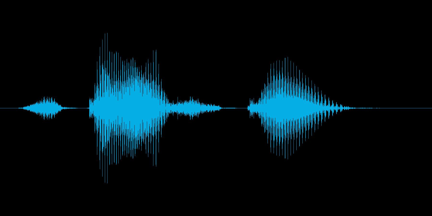 ステージ2(つー)の再生済みの波形