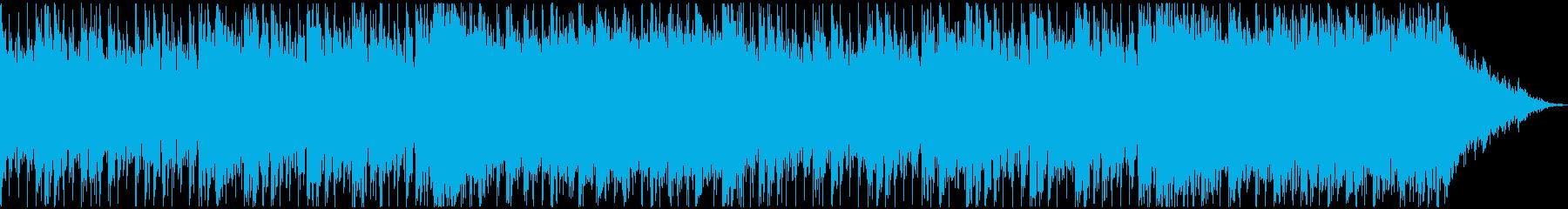 逃亡、レースをイメージしたシネマ系の曲の再生済みの波形