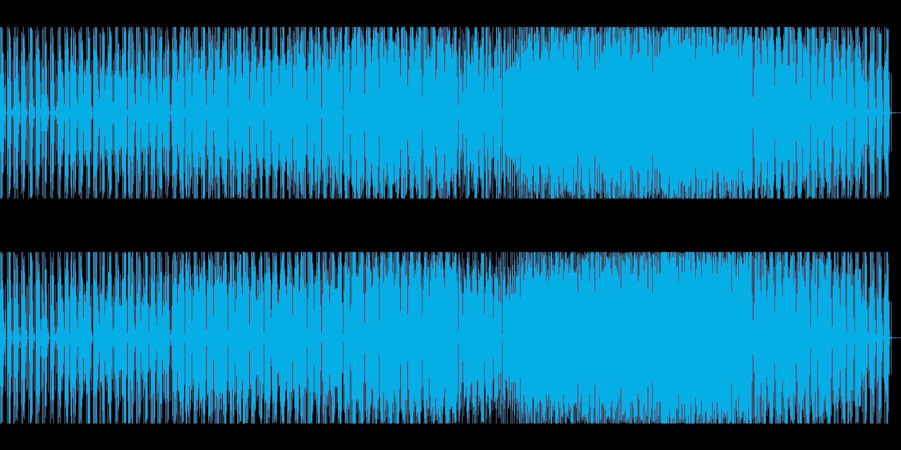 軽やかでファンキーなハウスミュージックの再生済みの波形