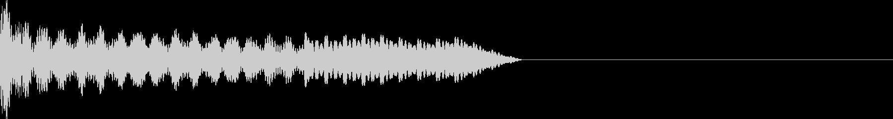 UI系 カーソル移動 ティロの未再生の波形