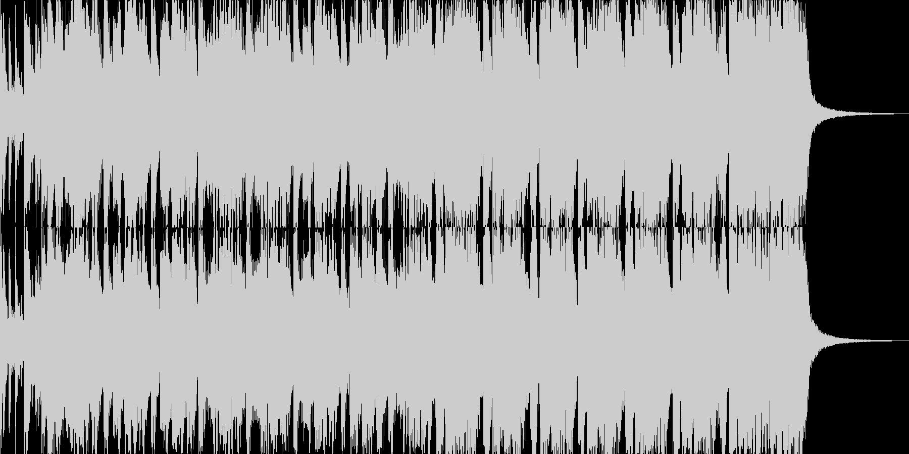 ダサかっこ良いロックンロール系ギターリフの未再生の波形