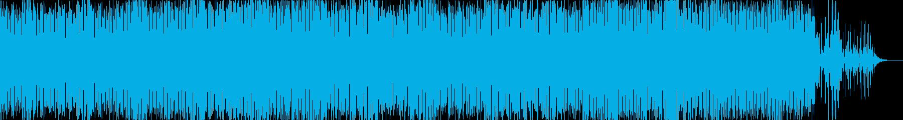 アンビエントダンス風な楽曲の再生済みの波形