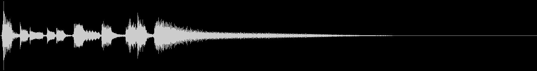 陽気なブルース調のジングルの未再生の波形