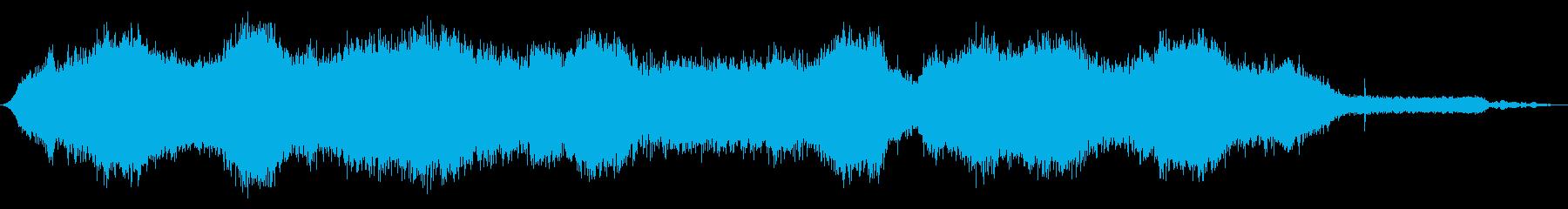 内線:オンボード:さまざまな速度で...の再生済みの波形