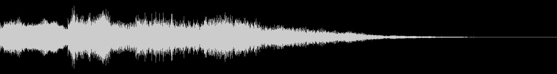 ピンポンパンポン(アナウンス終わりの音)の未再生の波形