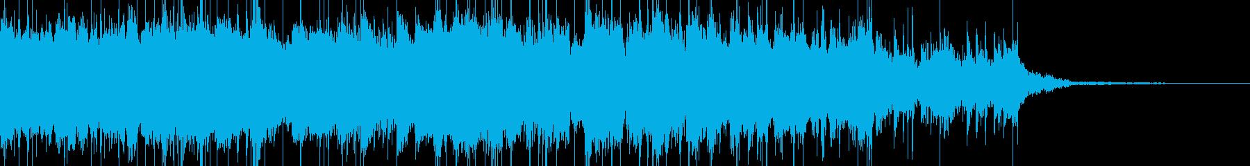 アップテンポなフュージョンサウンドの再生済みの波形