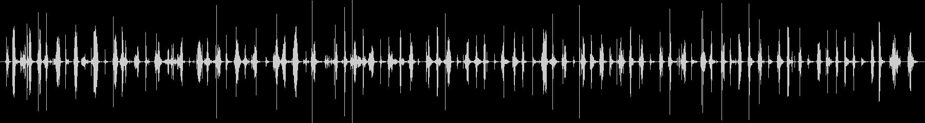 バイノーラル足音歩く3サンダル_後斜左の未再生の波形