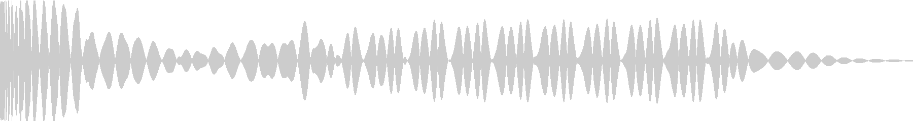 EDMキック キーDの未再生の波形