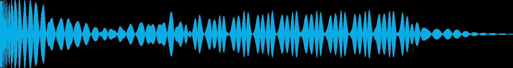 EDMキック キーDの再生済みの波形