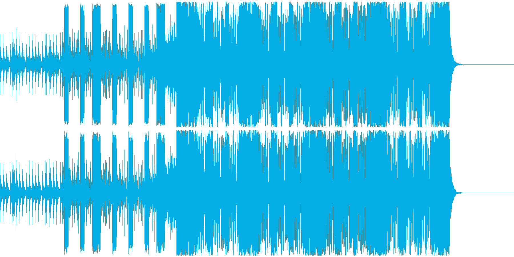 クールなEDMの再生済みの波形