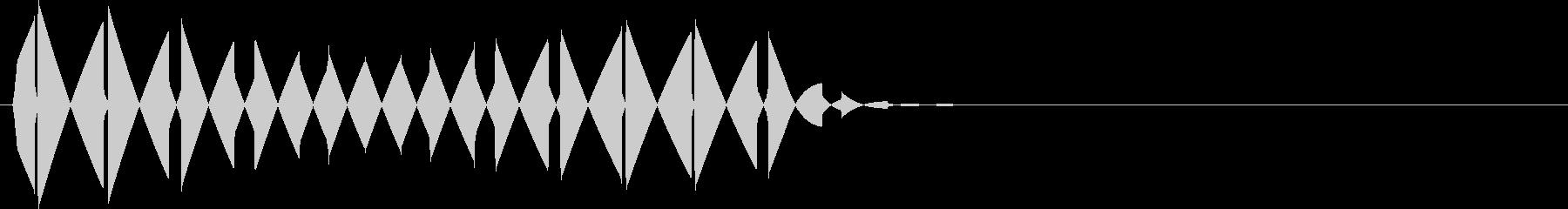 ブ(キャンセル、カーソル移動、行止まり)の未再生の波形