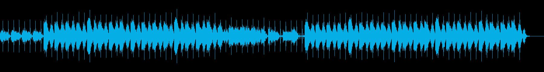 静かな夜にぴったりのローファイ・ビートの再生済みの波形