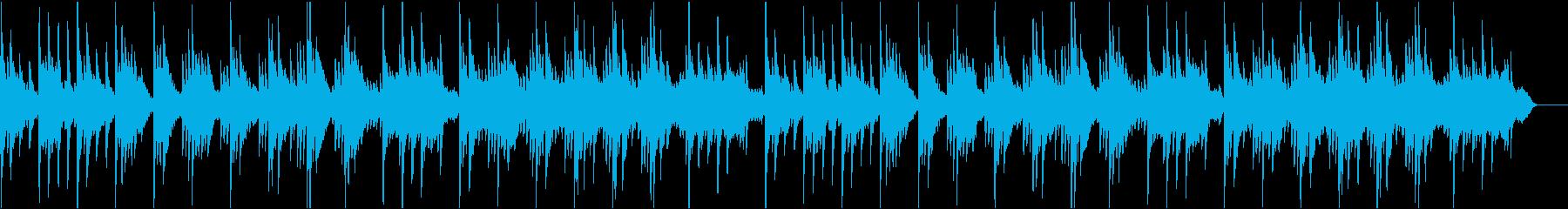 ピアノメインの落ち着いたヒーリングBGMの再生済みの波形