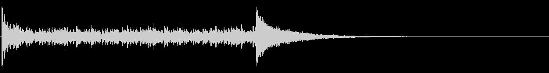 ドラムロール_5秒の未再生の波形