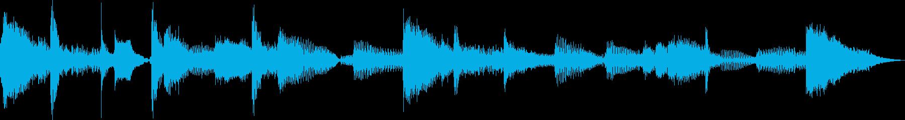 おしゃれなイメージのEDM風ジングルですの再生済みの波形