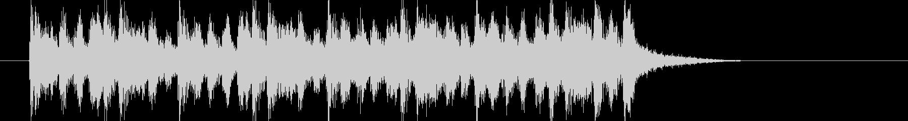 軽快なフルートサウンドの未再生の波形
