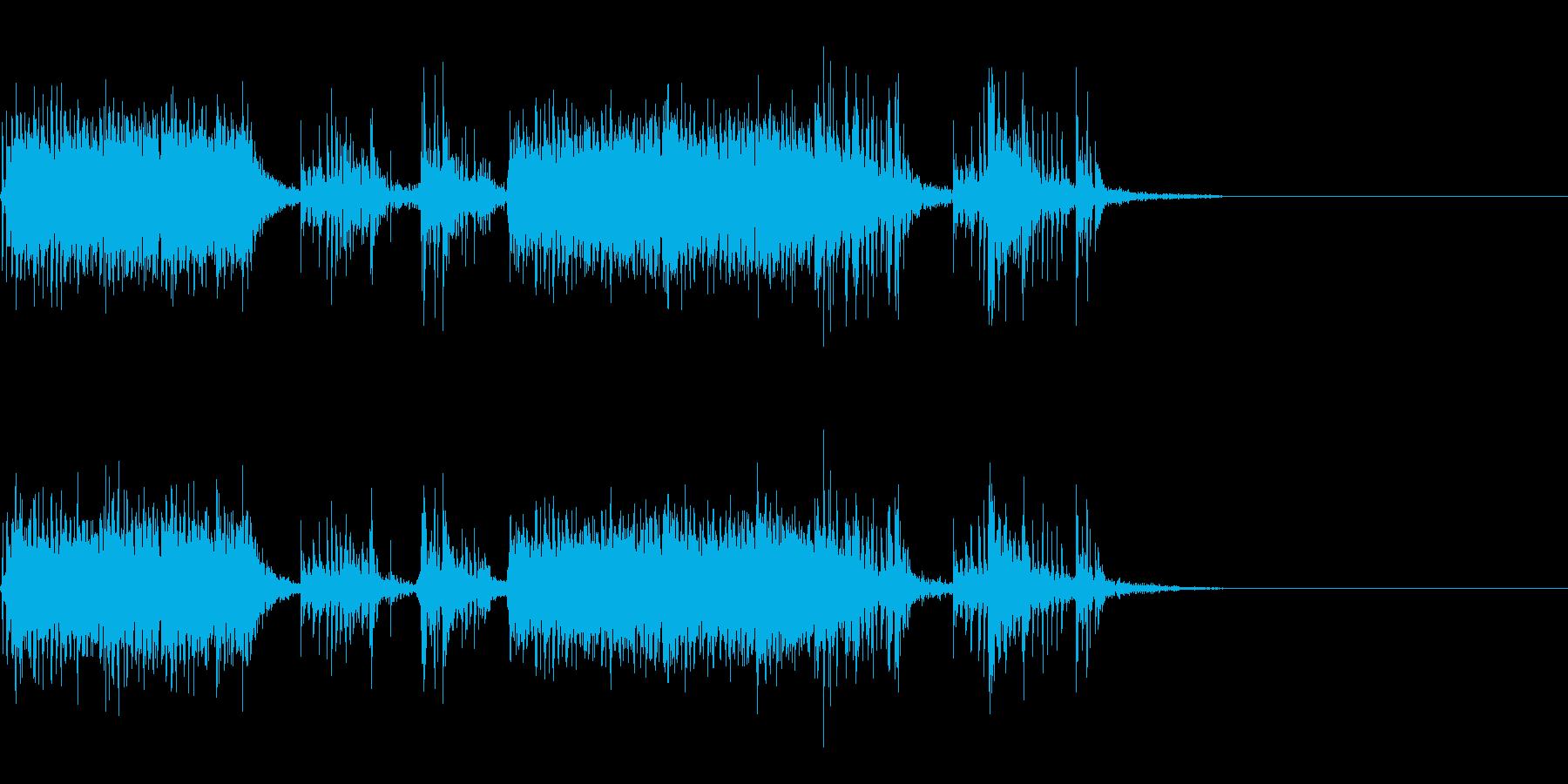 スパーク音-16の再生済みの波形