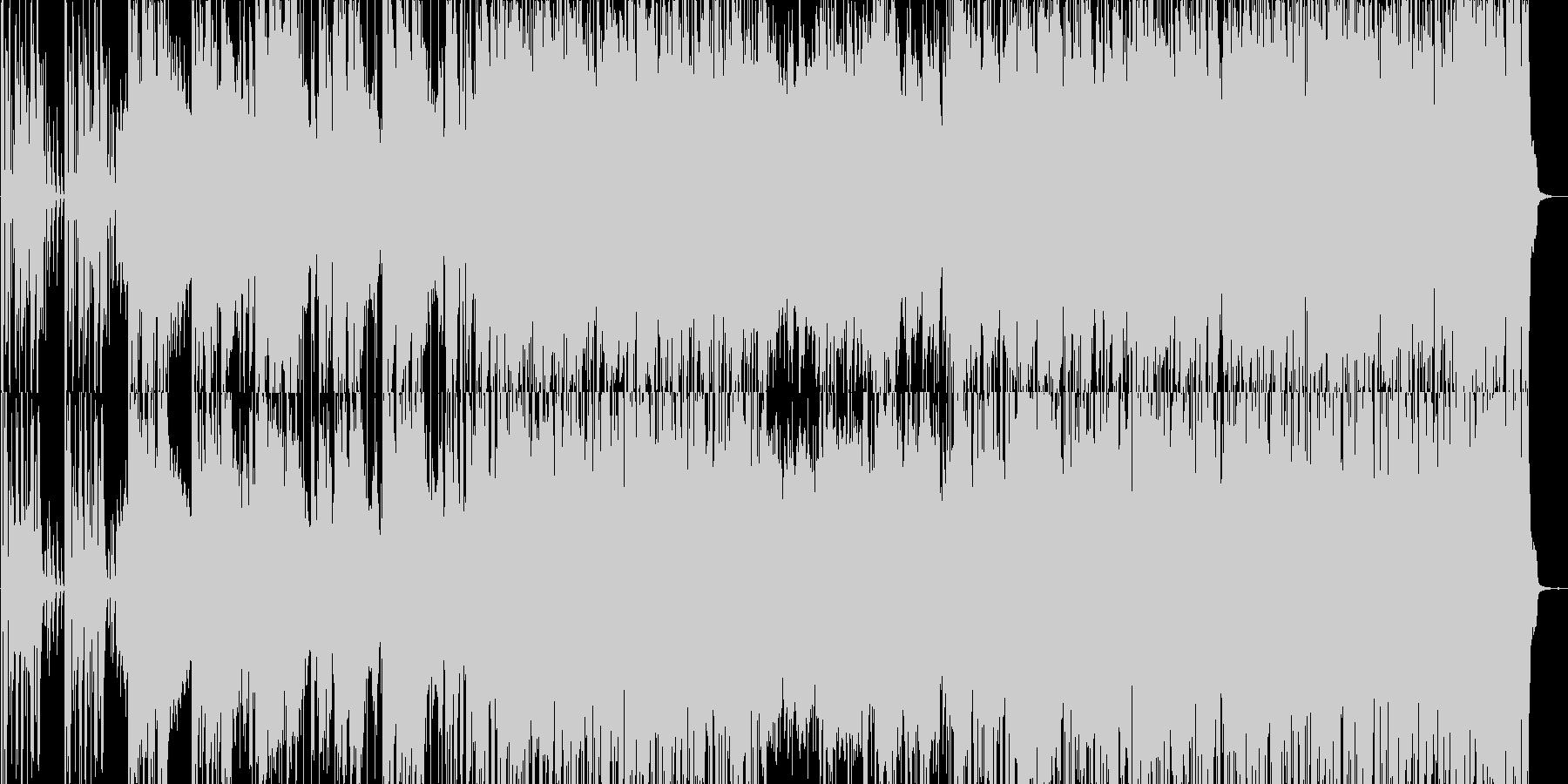 クラヴィネットを使った曲の未再生の波形