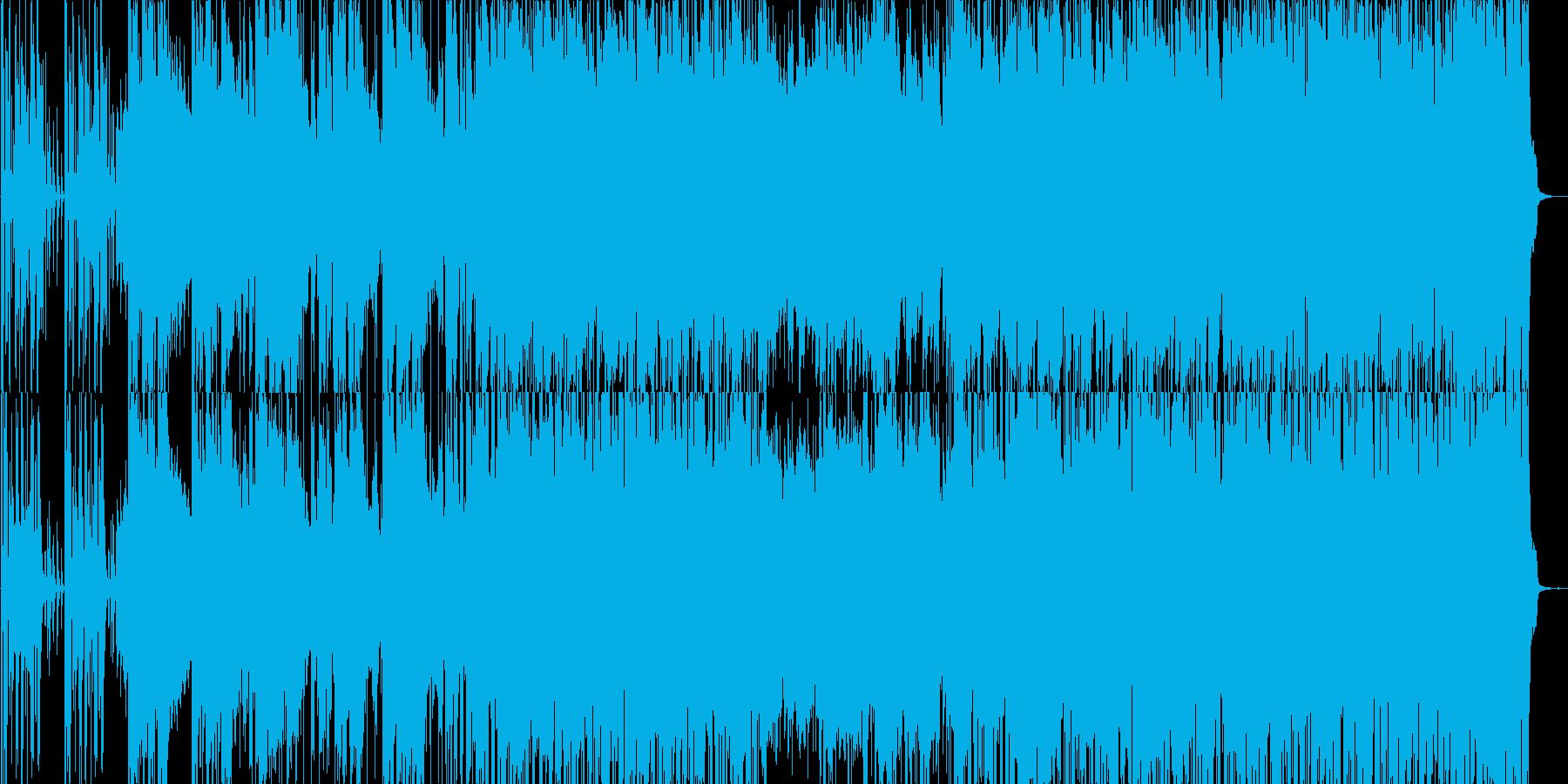 クラヴィネットを使った曲の再生済みの波形